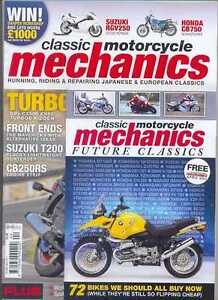 CLASSIC M/C MECHANICS-No.282,SuzukiT200,CB750(NEW COPY)