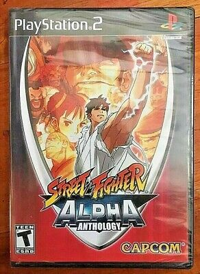 STREET FIGHTER ALPHA ANTHOLOGY PS2 AMERICAN ENGLISH NTSC NEW SEALED