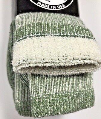 3 Pairs Men Merino Wool Blend Boot Socks USA Over Calf Machine Washable 10-13