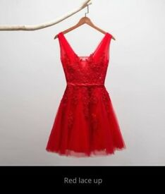 Red Short Evening Dress