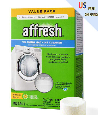 6 Tablets--Affresh Washing Machine Cleaner,Fast Shipping