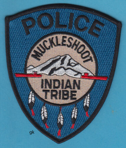 MUCKLESHOOT INDIAN TRIBE WAHINGTON STATE TRIBAL POLICE SHOULDER PATCH