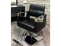 2 NEW BARBER/ BEAUTICIAAN . CHAIRS FOR SALE £110 EACH