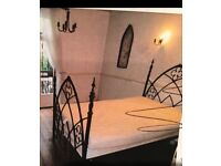 Wrought iron one of a kind bed frame