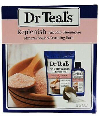 Dr Teal's Replenish with Pink Himalayan Mineral Epsom Salt Soak & Foaming Bath Pink Himalayan Bath Salts