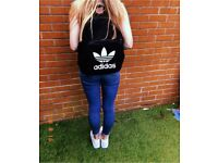 Black and white Adidas rucksack original