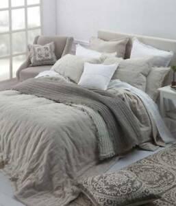 Laundered Linen Natural Queen Bedspread Set by MM Linen Brisbane City Brisbane North West Preview