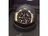 NEW CARTIER WATCH ROSE GOLD DIAMOND BEZEL CHRONOGRAPH AUTOMATIC SWISS