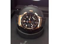 BRAND NEW HUBLOT BIG BANG GENEVE ROSE GOLD CHRONOGRAPH AUTOMATIC MENS WATCH DIAMOND