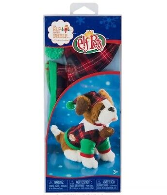 Elf on The Shelf Elf Pets Claus Couture Playful St Bernard PJs Outfit Red Green