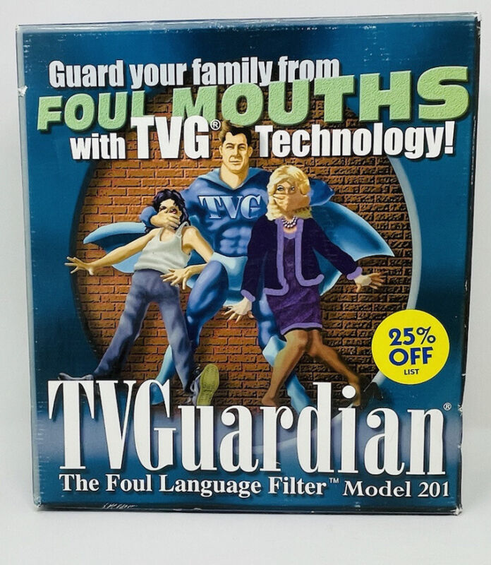 Vintage TV Guardian Foul Language Profanity Filter Model 201- No Cables Included