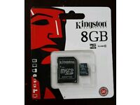 Memory cards kingeston 8GB