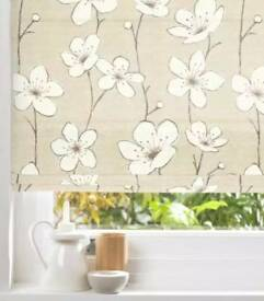 Colours Harriet Corded Natural Roman Blind (L)140cm 55 inch (W)90cm 35inch new