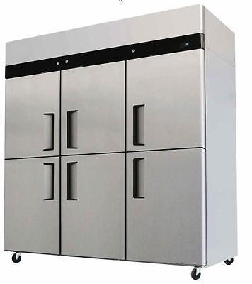 NEW  Commercial 6 Door Refrigerator / Freezer Combo Stainless Steel Merchandiser