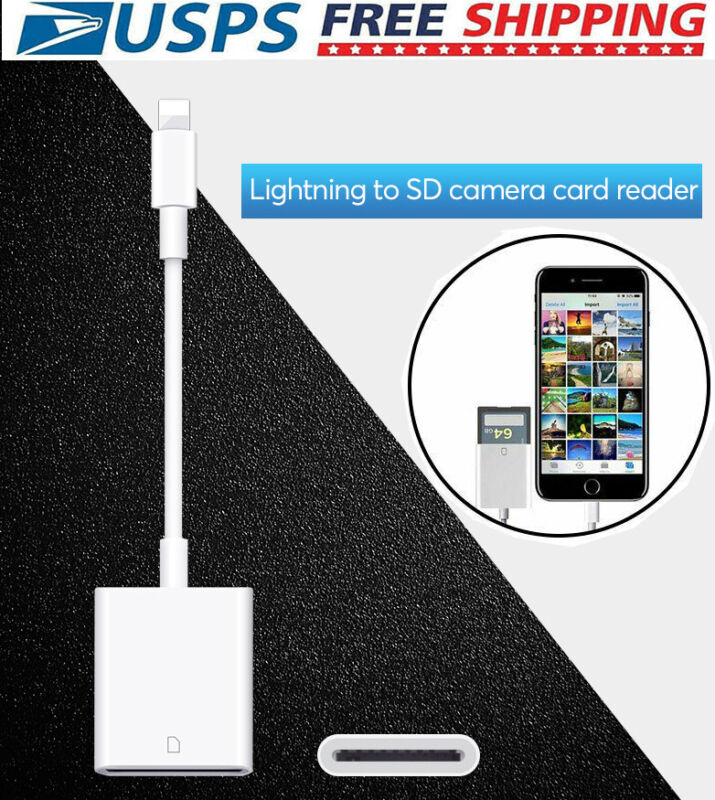 Lightning to SD Card Reader Camera Photo Adapter Trail Game Camera Viewer f IOS