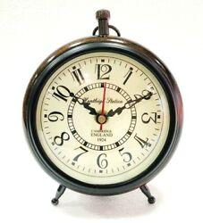 Antique Nautical Wooden Analog Clock Home & Office Decor Desk decor for Gift