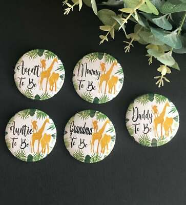 giraffe/ safari theme/ buttons pins/ baby shower/ mommy to be/ woodland/ - Monkey Baby Shower Theme