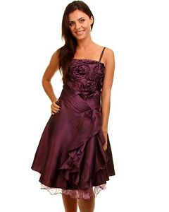 New Ladies Girl Prom Race Cocktail Layered Dress Size 8 10 12 14 S M L  2 COLORS