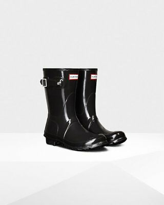Hunter Women's Original Short Rain Boots: Black Gloss. Size 11 ()