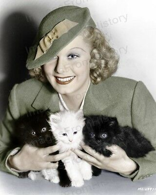 8x10 Print Jean Harlow Beautiful Colorized Hatted Fashion Portrait #6851