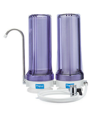 Propur Dual Stage Countertop Water Filtration System w/ Promax Filter Cartridge Countertop Double Stage Filter