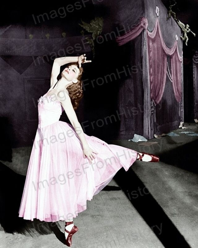 8x10 Print Moira Shearer The Red Shoes 1948 Colorized #MSAD