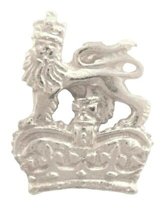 Royal Crown Lion Badge Pin Pewter Souvenir Gift Charm Lapel Coat of Arms UK -