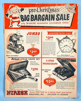 1950s Christmas Sales Catalog Toys Dolls Jokes Novelties Niresk Ind.  Chicago - Novelties Catalog