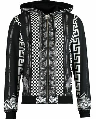 Versus Versace men's full zip hoodie - Greek print theme