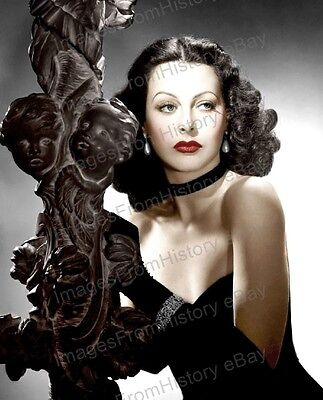 8x10 Print Hedy Lamarr Beautiful Colorized MGM Portrait 1940 #HLEC