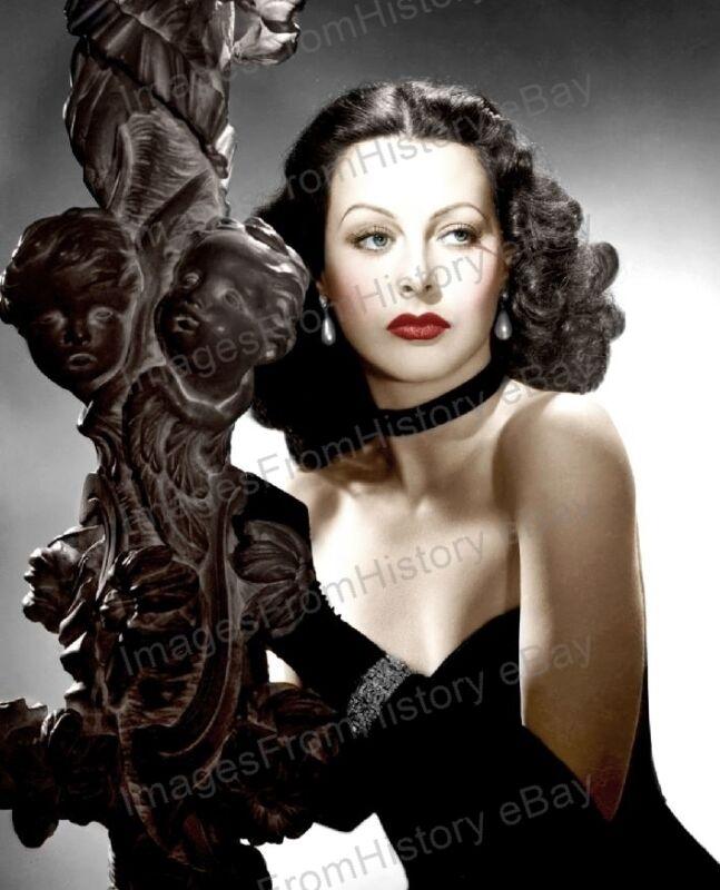 8x10 Print Hedy Lamarr Beautiful Colorized MGM Portrait 1940 #HLEC