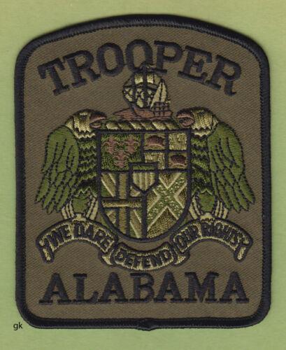 ALABAMA TROOPER POLICE SHOULDER PATCH  (Subdued - green)