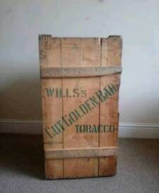 Vintage Wills Tobacco Crate