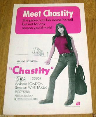 """Cher-Chastity Movie-Publicity Book-Sonny Bono-Bio-Pics-Measures-11"""" X 17""""-1969"""