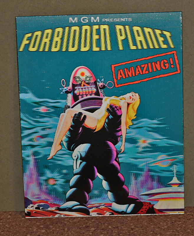FORBIDDEN PLANET Robby The Robot Lenticular 3D Movie Poster Sign