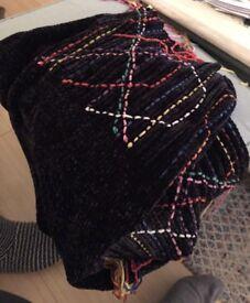 Black Fringed Zara Scarf