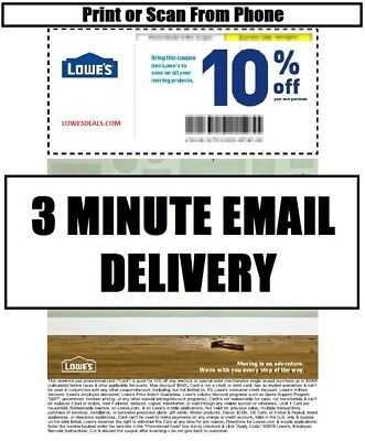 Three  3X  Lowes 10  Promotion Instore Online 11 30 17   Fast Delivery