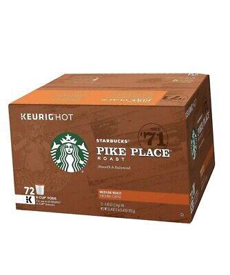 Starbucks Pike Place Medium Roast Coffee K-Cups (72 Count). BB 3-2020 LOOSE