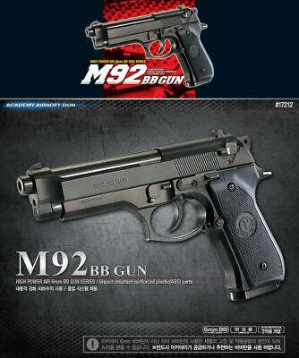 [Academy] #17212 Beretta M92 Plastic AirsoftPistol BB Replica ToyGun Military