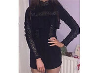 Black playsuit, Missguided, size 6/8