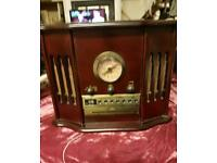 vintage style record player radio and CD player