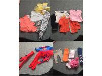 Newborn to 3 months baby girl clothing bundle