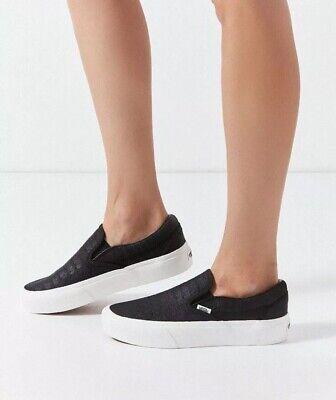 Vans black Embossed Classic Slip-on Platform Woman's Size 5 Men's 3.5