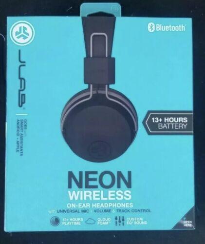 JLab Audio Neon Wireless Bluetooth On Ear Headphones Foldabl