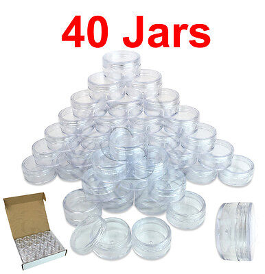 40 Packs 10 Gram/10ML High Quality Cream Cosmetic Sample Clear Jar Containers