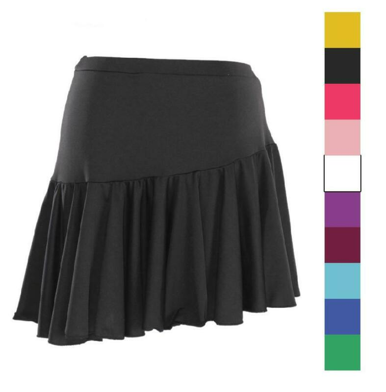 New Latin Cha cha salsa Ballroom Dance Mini Training Skirt  rumba Samba black