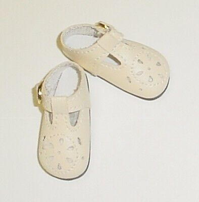 Baby Doll Shoes For Toddlers (Doll Shoes, 85mm CREAM T-Straps for Chatty Cathy, My Twinn Toddler Baby 20