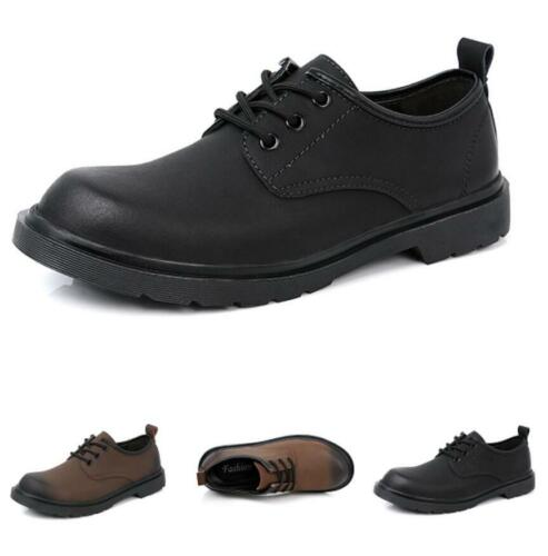 Details about  /Mens Round Toe Oxfords Slip on Party Retro Low Top Business Faux Leather Shoes L