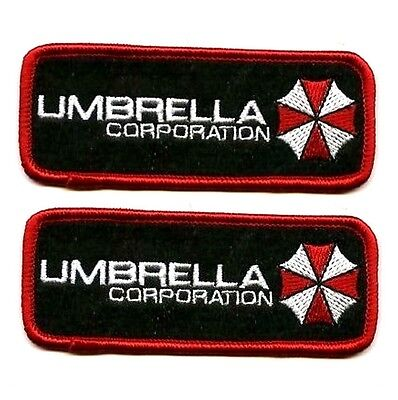 FANCY DRESS HALLOWEEN COSTUME PROP 2-TAB: Resident Evil UMBRELLA CORPORATION (Umbrella Corporation Halloween Costumes)