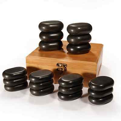 Master Massage 18pcs set Hot stone Basalt Rocks body Therapy pain Relief Lava